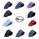10pcs HBY Mens Necktie Classic Tie Fashion Daily Formal Woven Jacquard Neck Ties