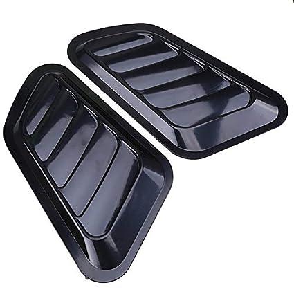 2x Car Bonnet Air Flow Intake Side Fender Vent Moulding Trim Decals Stick On