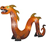 Inflatable Indoor/Outdoor Halloween Holiday Decoration 16 ft. Serpent with Flaming Mouth
