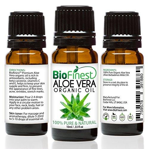 Biofinest Aloe Vera Organic Oil - 100% Pure, Natural, Cold-P