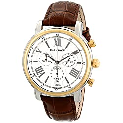 Thomas Earnshaw Men's ES-0016-05 Longcase Analog Display Swiss Quartz Brown Watch
