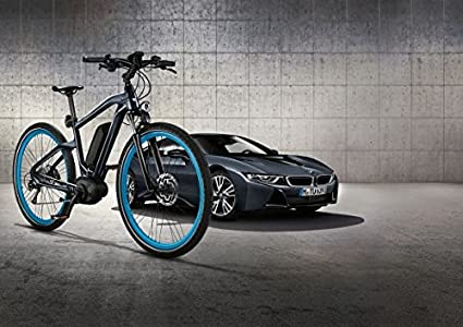 Bicicleta BMW eléctrica, original, color gris oscuro, tamaño ...