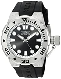 Invicta Men's 'Pro Diver' Swiss Quartz Stainless Steel and Polyurethane Automatic Watch, Black (Model: 16132)