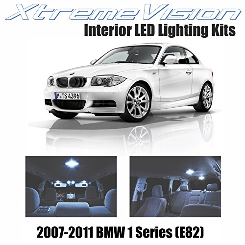 XtremeVision BMW 1 Series (E82) 2007-2011 (8 Pieces) Cool White Premium Interior LED Kit Package + Installation Tool