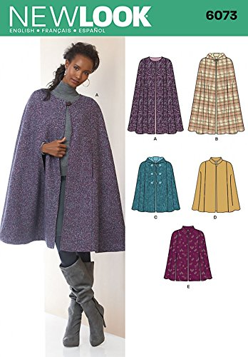 New Look Sewing Pattern 6073 - Misses\' Cape Sizes: A (XS-S-M-L-XL ...