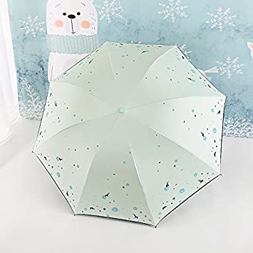 NING567 Paraguas/Doble Propósito/Protector Solar/Anti Rayos Ultravioleta/Plegado/cubriendo