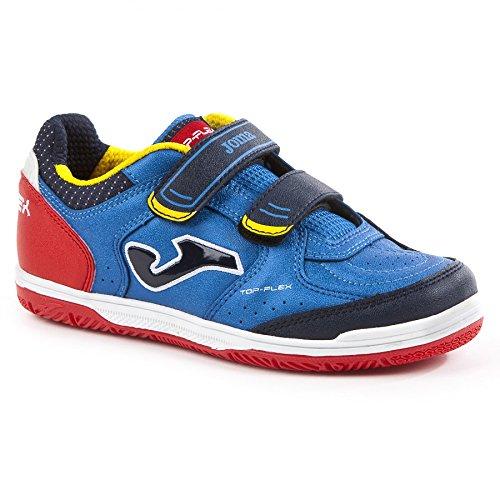 Joma Top Flex Jr Hallenschuhe Kinder blau rot gelb Futsal Schuhe NEU, Schuhgröße:27