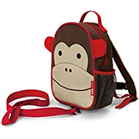 Skip Hop Zoo Let Mini Backpack with Rein, Monkey