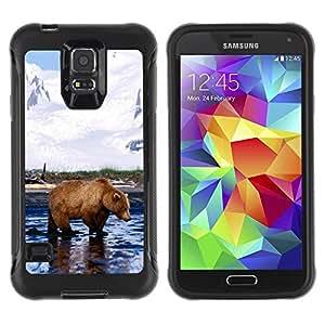 Suave TPU GEL Carcasa Funda Silicona Blando Estuche Caso de protección (para) Samsung Galaxy S5 V / CECELL Phone case / / Cool Grizzly Bear /