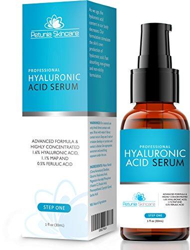 Meilleur Anti Aging Acide Hyaluronique Sérum avec de la vitamine C pour la peau sèche - Réparation et prévenir les rides et ridules - E-book gratuit avec l'achat - Hydratant Anti-Rides Formule Treats déshydratées et inégale Teint Skin Tone