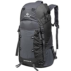 Coreal Hiking Foldable Backpack Packable Lightweight Daypack 35L Women and Men Black