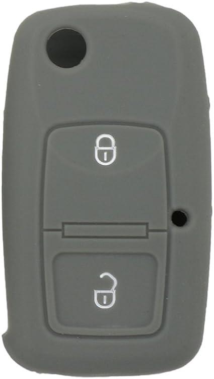 Housse Fassport en silicone pour cl/é intelligente /à distance VOLKSWAGEN /à 2 boutons CV9805