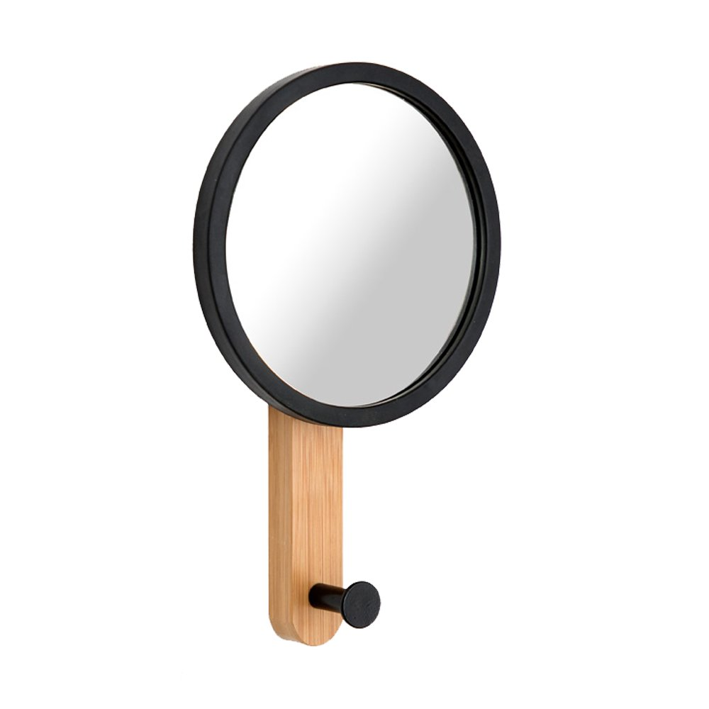 Round Hanging Wall Mounted Mirror Hook, Unique Natural Wall Mounted Rack Home Décor Organizer for Bathroom, Bedroom, Entryway,Office, or Hallway(Mirror Hook)