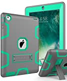 ipad 3 accessories bundle - Topsky NTECeaq Shock-Absorption Three Layer Armor Defender Full Body Protective Case for iPad 2, 3, 4 with Stylus and Screen Protector - Grey/Green