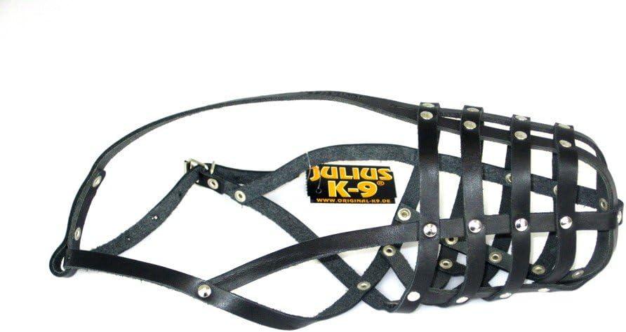 Julius K9 171D2 Leather Muzzle Light: Dobermann, Collie, Size: Small, Un tamaño