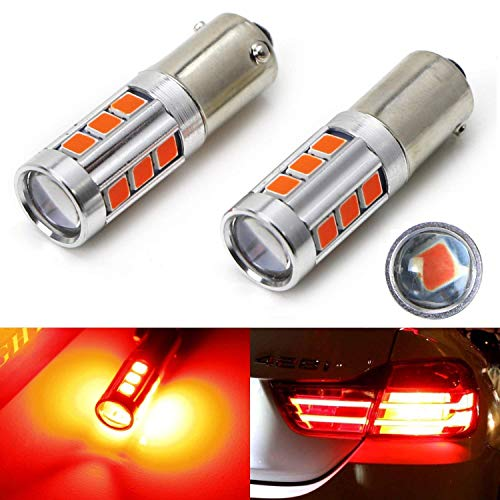 iJDMTOY (2) 360 Degrees Brilliant Red 13-SMD H21W LED Replacement Bulbs For 2014-2017 F32/F33/F82 4 Series Brake Lights