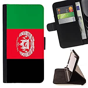- Flag - - Prima caja de la PU billetera de cuero con ranuras para tarjetas, efectivo Compartimiento desmontable y correa para la mu?eca FOR Apple iPhone 5 5S King case
