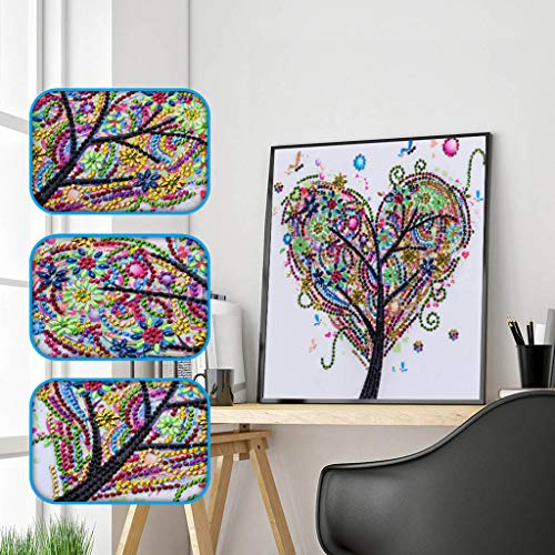 (^YW^ ❤Ywoow❤ Diamond Embroidery ,Special Shaped Diamond Painting DIY 5D Partial Drill Cross Stitch Kits Crystal Rhinestone of Picture Serial Diamond Embroidery Arts Craft)