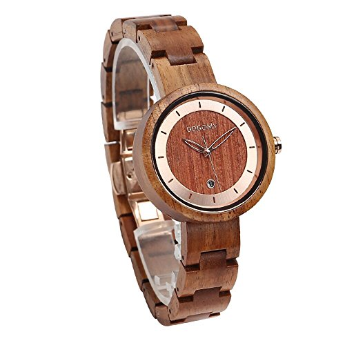 GOGOMY Wooden Watch Couple Wrist Watch Japanese Quartz Movement Men Women Halloween Christmas Gift