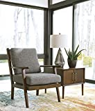 Zardoni Contemporary Charcoal Color Fabric Accent Chair