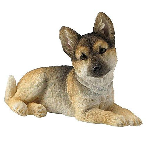 Veronese Design German Shepherd Puppy Sitting Looking Right Sculpture
