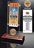 """NFL Baltimore Ravens Super Bowl 35 Ticket & Game Coin Collection, 12"""" x 2"""" x 5"""", Black"""