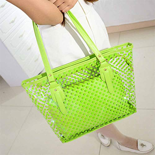 Handbags Tote Bags Bags PVC White Green Shoulder Clear Casual Women Jelly W8wBqSZn4T