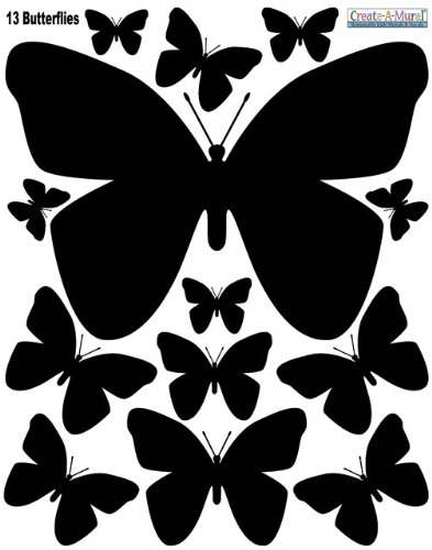 Amazon.com: Butterfly Wall Decals (26) Butterfly Wall Decor Stickers ...