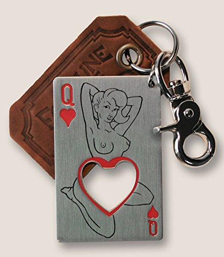 Trixie & Milo – The Gentleman's Bottle Opener & Key Ring (Queen of Hearts)