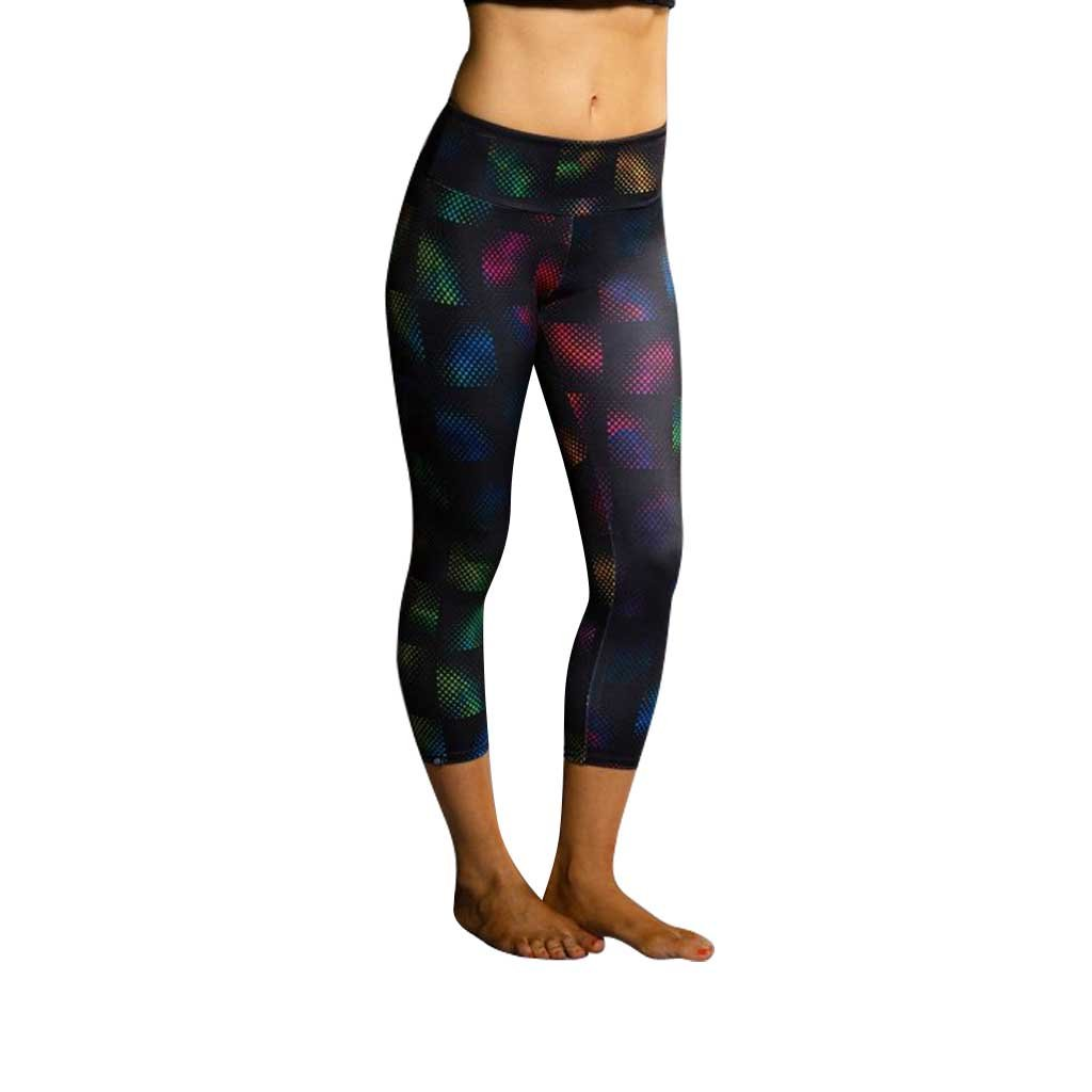 ONZIE YOGA CAPRI 202 STAIN GLASS (Large, Stain Glass)