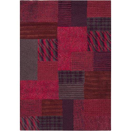(Surya Hayden HDN-9001 Transitional Hand Tufted 100% Wool Raisin 2' x 3' Patchwork Accent Rug)