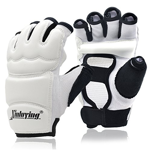 Xinluying Punch Bag Taekwondo Karate Gloves for Sparring Martial Arts Boxing Training Fingerless Women Kids - Gtma Leather