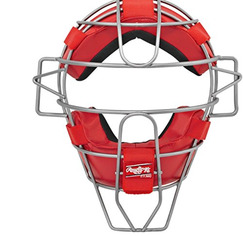 Rawlings LWMX2-S Ultra Lightweight Adult Catcher's Face Mask, Scarlet by Rawlings