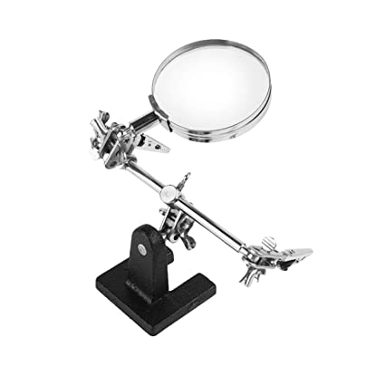 helping hands soldering clamps aid third hand free magnifier glass model tool