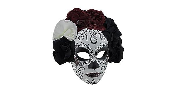 Amazon.com: Negro y Rojo La Catrina Dod Azúcar Cráneo ...