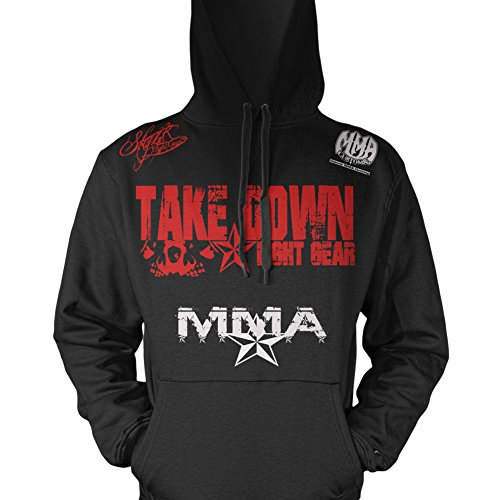 Takedown Fight Gear Skulls Designer Adult Pullover Hoody & FREE Tapout Sticker