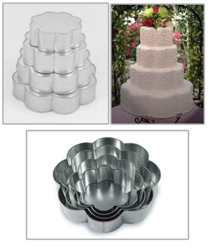 Professional 4 Tier Petal Multilayer Wedding Anniversary Cake baking pan 6