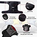 UPGRADE Heated Shoulder Wrap Brace Infrared Heating Shoulder Pad Cold Hot Therapy for Shoulder Pain Relief Stiff Soreness, Frozen Shoulder, Bursitis, Tendonitis, Rotator Cuff