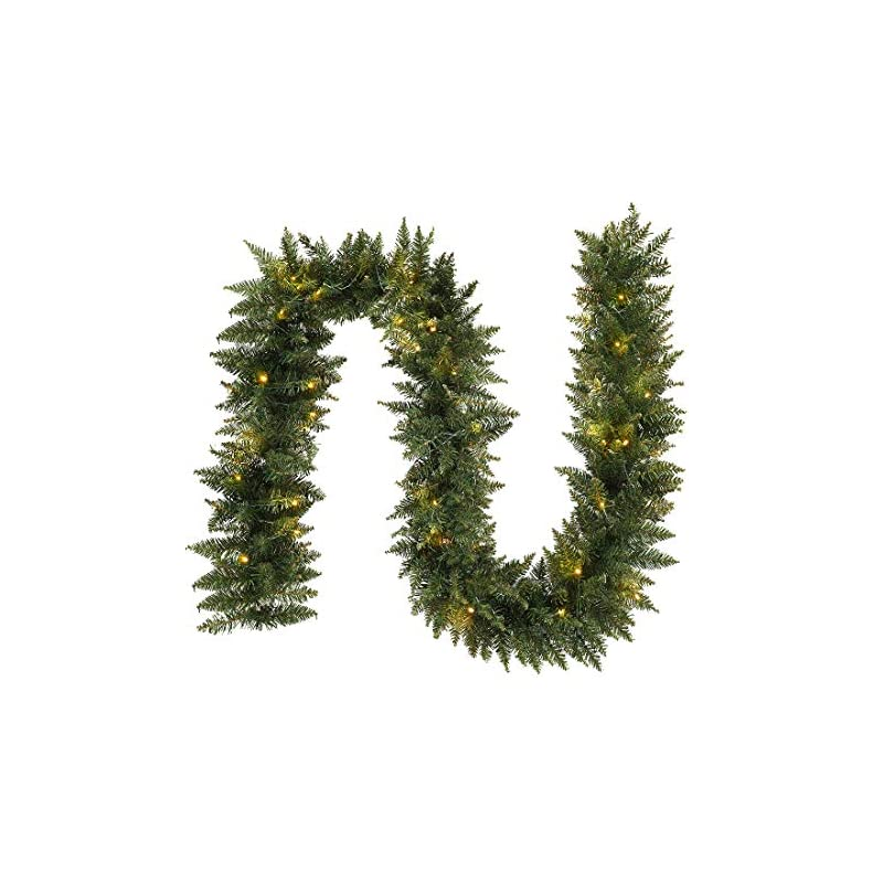 silk flower arrangements anotherme 9 ft pre-lit christmas garland holiday artificial decor for stairs wall door indoor outdoor garland with battery operated timer