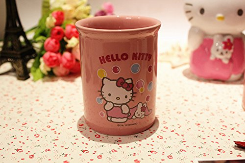 Brandream 4 piece pink hello kitty bathroom set kids for Bathroom accessories uae