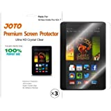 "JOTO Premium Screen Protector Film Ultra Clear (Invisible) for New Kindle Fire HDX 7 inch Tablet (will only fit Kindle Fire HDX 7""), with Lifetime Replacement Warranty (3 Pack)"