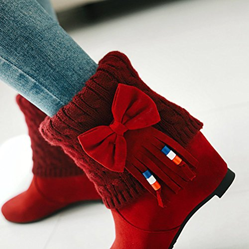 Bottes Femme Rouge HiTime Red 36 5 Indiennes f6T6xqw1