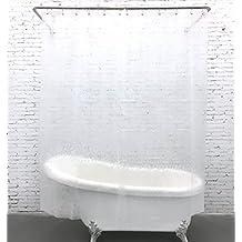 """HIGOGOGO Translucent Cobblestone Shower Curtain EVA Material Waterproof Mildew Resistant Shower Curtain With 12 Plastic Shower Curtain Rings 70.86""""*78.74"""""""
