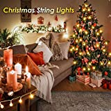 ALOVECO Battery Operated String Lights, 15ft 40 LED Christmas String Lights, 8 Lighting Modes with Timer, Waterproof Globe Fairy String Lights for Christmas Tree, Bedroom, Garden,Wedding Decorations