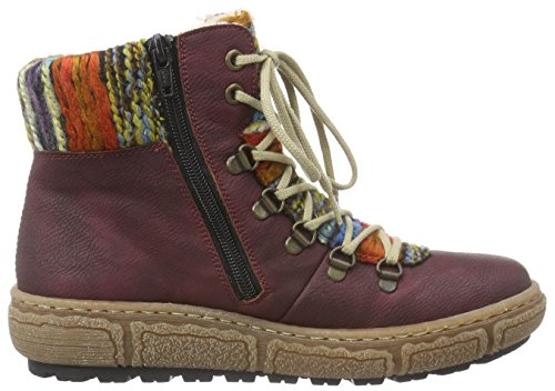 990906 Stiefel RIEKER Winterstiefel rot Womens 41 rot aIqnUqH4g