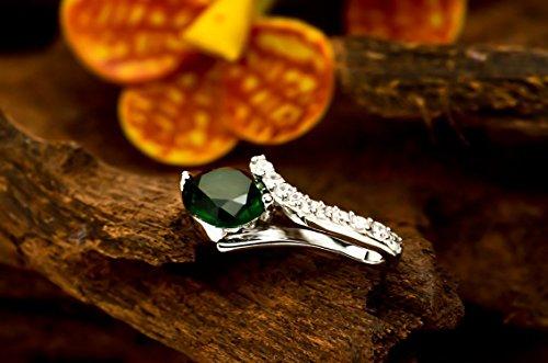 findout dames en argent sterling zircon turquoise collier pendentif en baisse .pour femmes filles. (f1439)