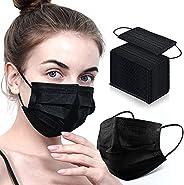Black Disposable Face Masks 100/50Pack Black Face Masks Disposable Black Mask