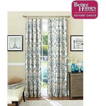 Amazoncom Better Homes And Gardens Marissa Curtain Panel - Better homes and gardens shower curtain