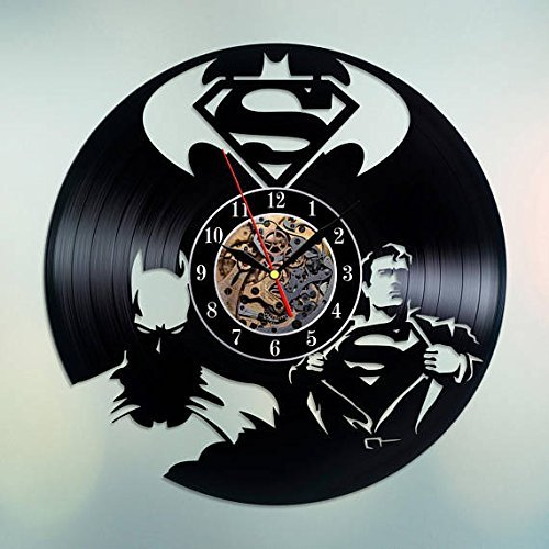 Batman vs Superman Unique Wall Clock for bedroom, bathroom, kitchen, livingroom - gift idea for birthday, wedding, Mother's Day, Valentine's Day]()