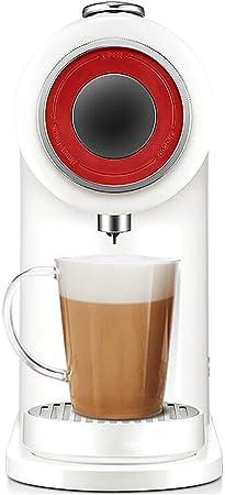 Cafeteras domésticas,Máquina de café de cápsulas Hogar Comercial Pequeña máquina de café automática inteligente Máquina de té de leche de leche de soja-White: Amazon.es: Hogar